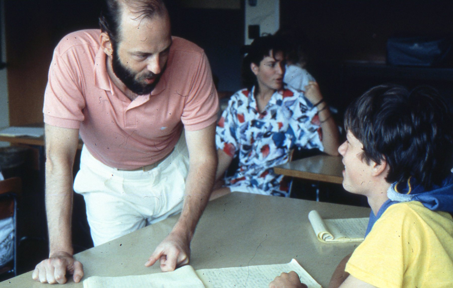 Not actually from YAC, but this photo shows the author in action during a COMPAS Summer Writing Workshop in 1987.