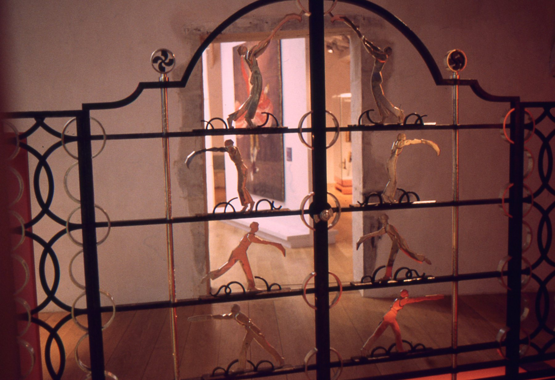 The artifacts in the Musee Basque dwell heavily on traditional Basque life, like this exquisite wrought-iron gateway that honors the sport of pelota.