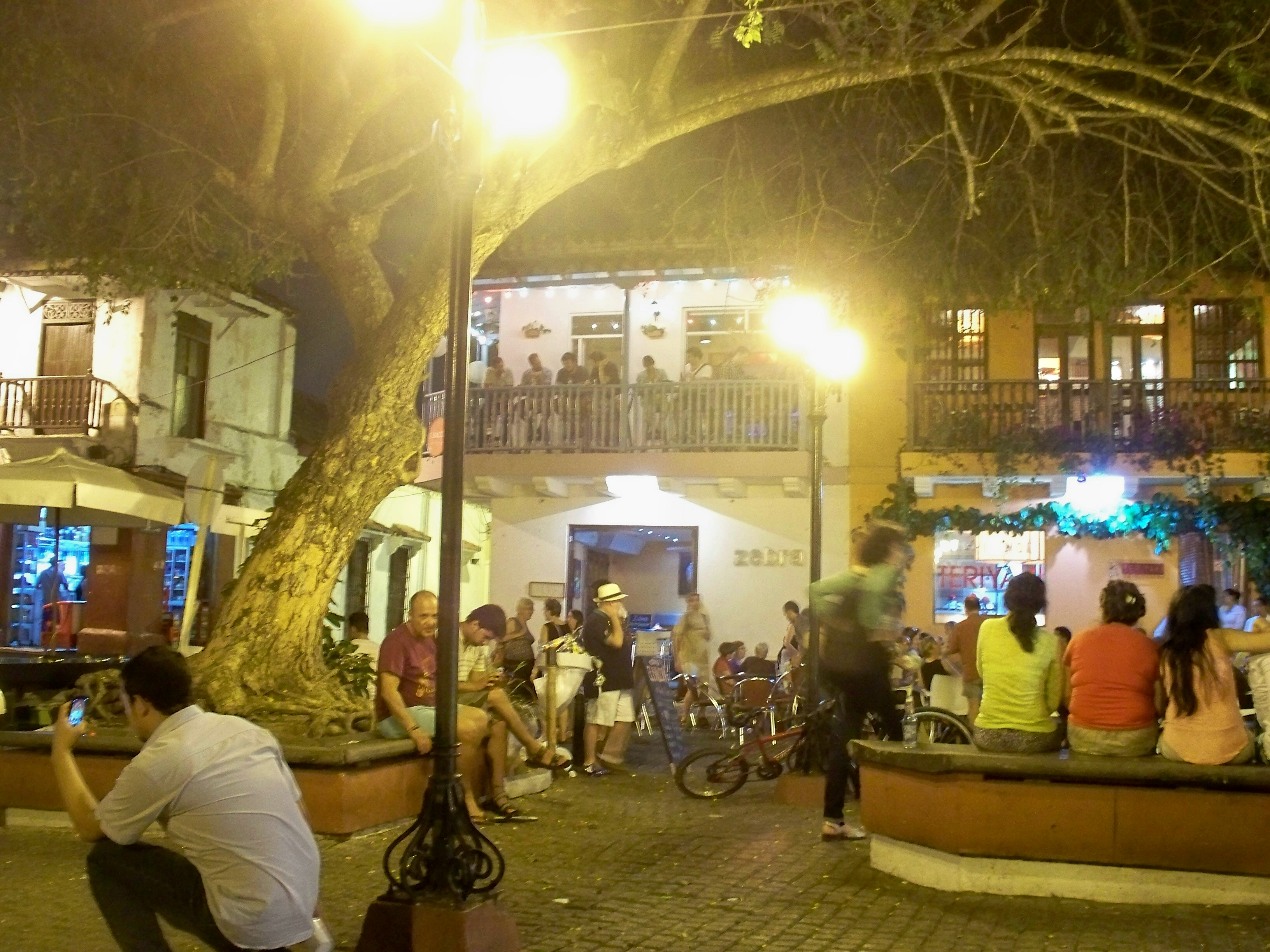 The plazas belong to everybody; here in Fernandez Madrid a fresh set of stories are unfolding with the night.