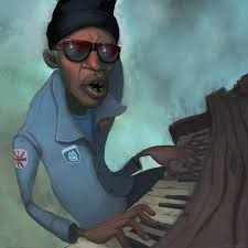 Professor Longhair bending those blue notes