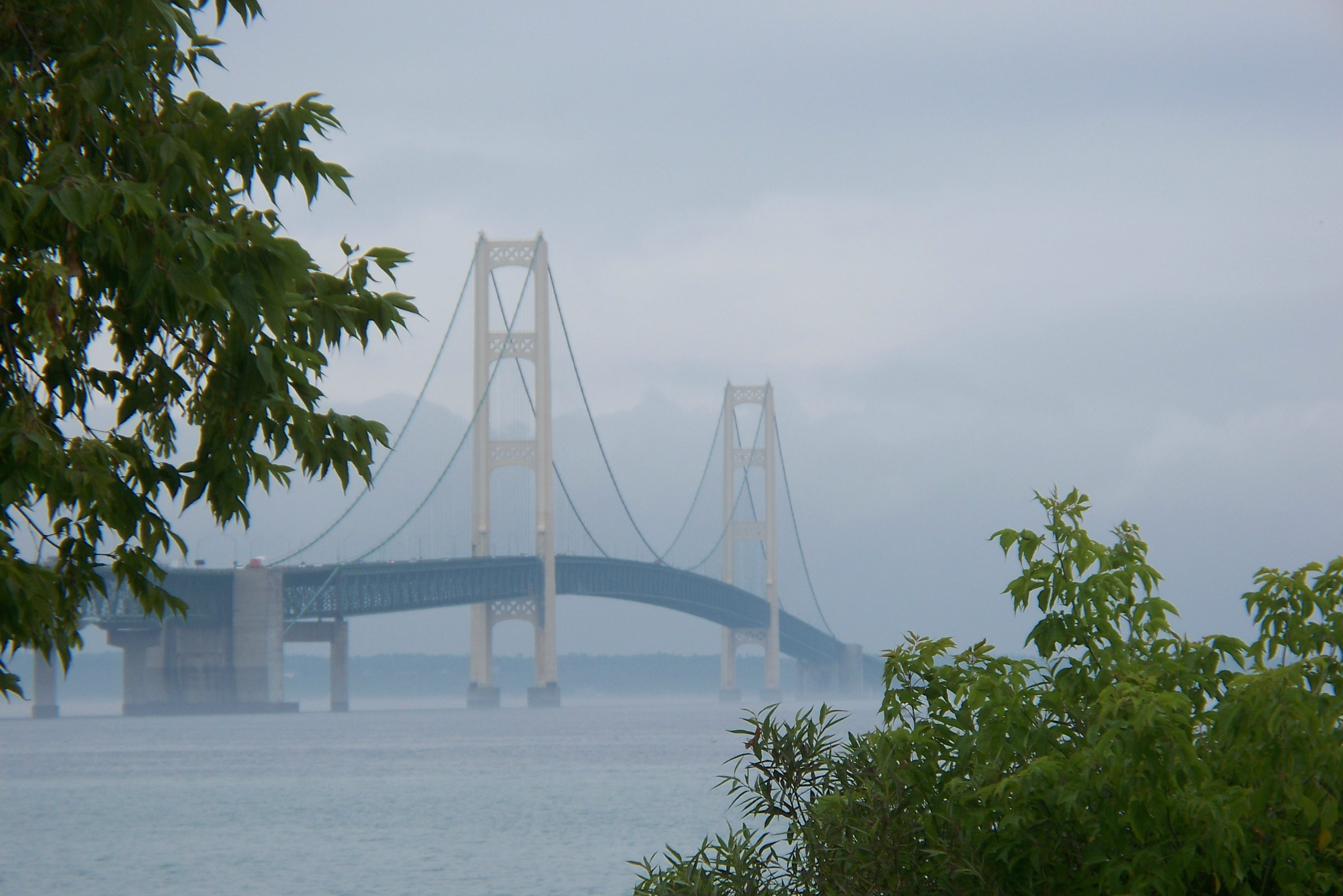 At five miles long, the Mackinac Bridge is the third-longest suspension bridge in the world.