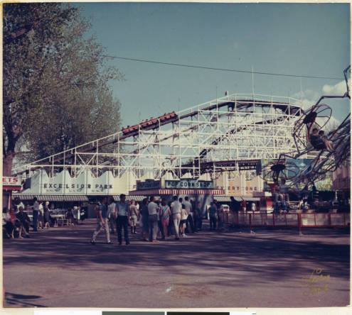 Folks always said that several people had died by standing up and falling out and that the roller coaster had been condemned. I loved it.