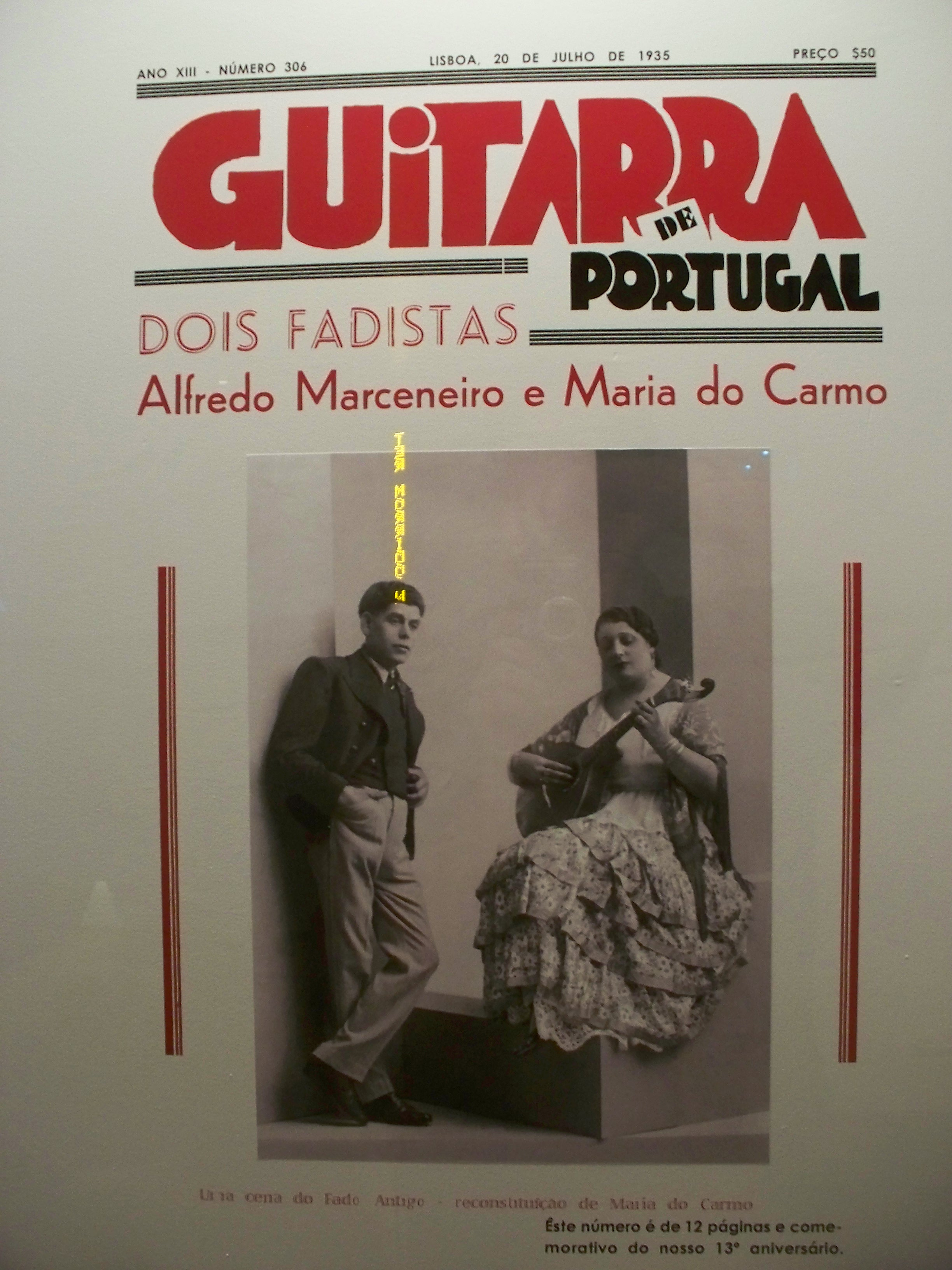 Fado has been played since the 1830s, and these 2 folks are legends even today.