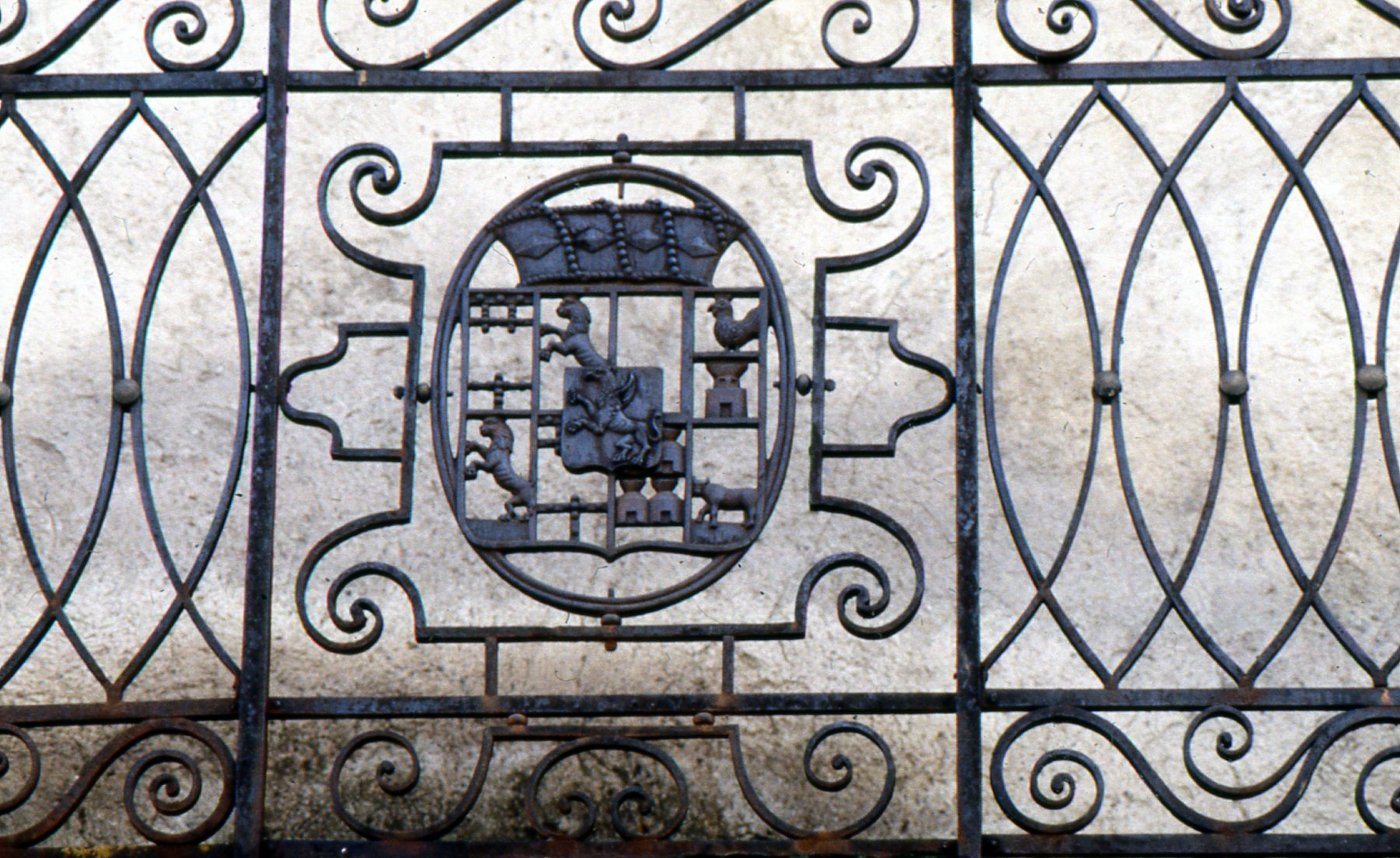 "The summer house of Andorra's iron-smelting ""tycoon"" weaves his coat of arms into elaborate wrought-iron work."